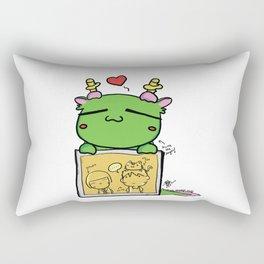 Kuma the dragon Rectangular Pillow
