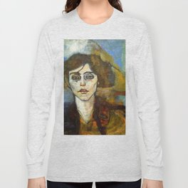 "Amedeo Modigliani ""Portrait of Maude Abrantes"" Long Sleeve T-shirt"