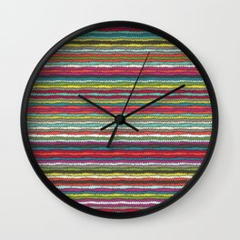 Honolulu chevron Wall Clock
