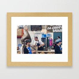 Atwater Market Brass Band Framed Art Print