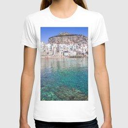 Azure water in Cefalu T-shirt