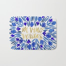In Wine, There is Truth – Navy & Gold Bath Mat