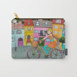 Bicycle and Balloons Carry-All Pouch