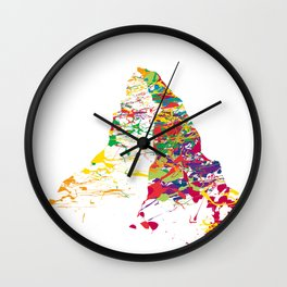 Matterhorn mountainsplash color Wall Clock