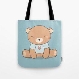 Kawaii Cute Teddy Brown Bear Tote Bag