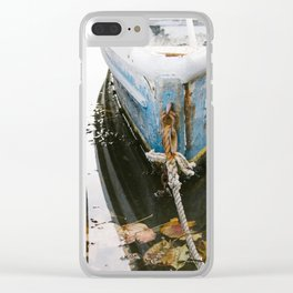 Coastal Skiff Boat Clear iPhone Case