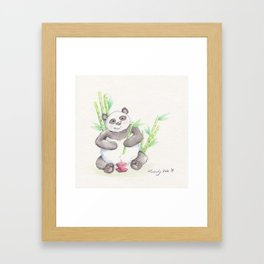 A Panda's Tea Framed Art Print