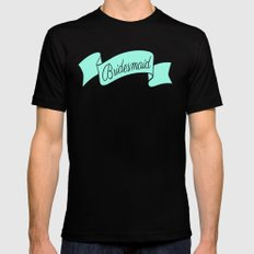 Mint Bridesmaid Mens Fitted Tee Black MEDIUM