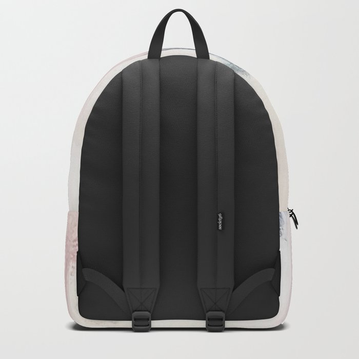 Blush Pink and Blue Pretty Abstract Backpack