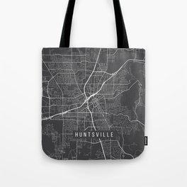 Huntsville Map, Alabama USA - Charcoal Portrait Tote Bag