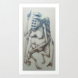 Brick-Death with a Trip-Nip Art Print