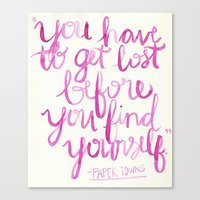 paper towns Canvas Prints featuring Paper Towns Quote by mekaylanicole