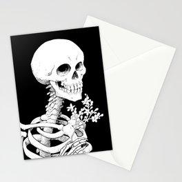 Skeleton & Flowers Stationery Cards