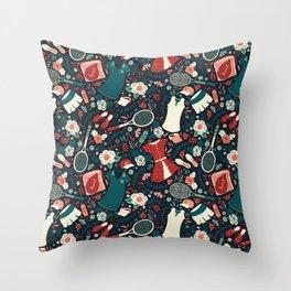 Tennis Style Throw Pillow