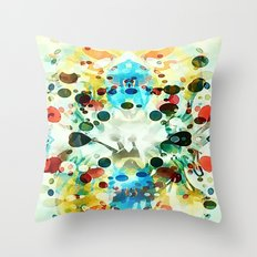 Wibbly wobbly Throw Pillow