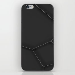 Metal voronoi grate iPhone Skin