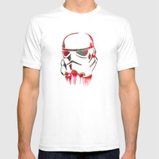 Storm Trooper Print Mens Fitted Tee White MEDIUM
