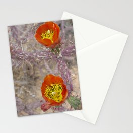 Pencil cholla in flower Stationery Cards