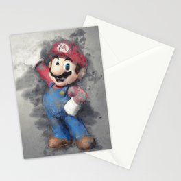 Super Mario digital art Stationery Cards