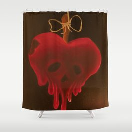 Poisoned Apple Shower Curtain