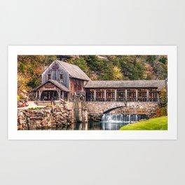 Dogwood Canyon Park Mill Panorama Art Print