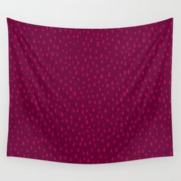 Raspberry Paint Drops Wall Tapestry