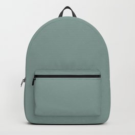 Minimalist dusty secluded green color decor  Backpack