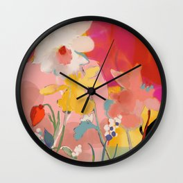 blooming abstract pink Wall Clock