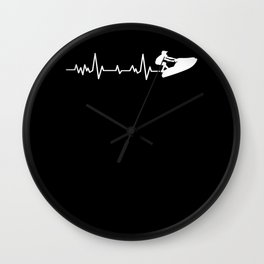 Stand Up Jet Ski Heartbeat Wall Clock