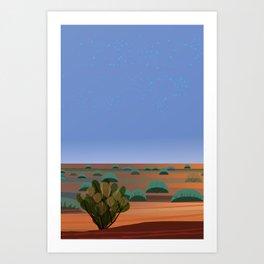 Twilight in the Desert Art Print