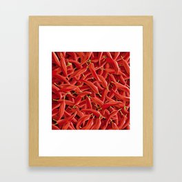 Too many Chillies Framed Art Print