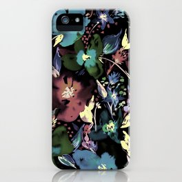 Bedroom Blooms Night iPhone Case