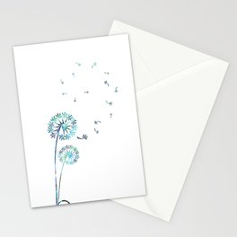Dandelion Paua White Stationery Cards