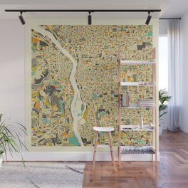 PORTLAND Map Wall Mural