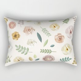 Floral Illustration Rectangular Pillow