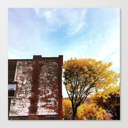 Autumn Ghost Sign - Beacon NY Canvas Print