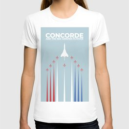 Concorde And The Red Arrows Flyover T-shirt