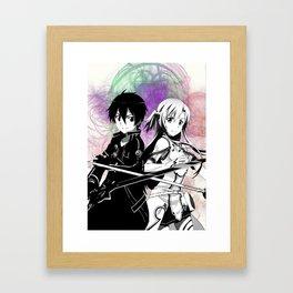 Sword Art Online Kirito Asuna Framed Art Print