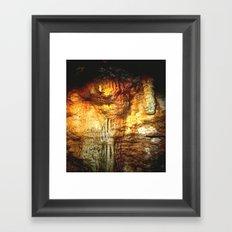 Reflections inside a Dolomite Cave Framed Art Print
