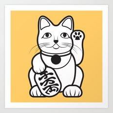 Lucky Cat - Maneki-Neko Art Print
