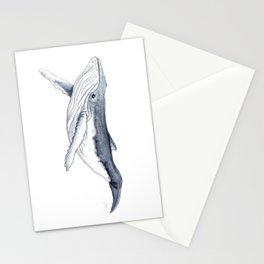 Baby humpback whale (Megaptera novaeangliae) Stationery Cards