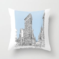 The Flat Iron Throw Pillow