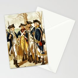 Infantry Of The Revolutionary War Stationery Cards