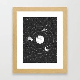 The Space Cat Framed Art Print