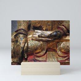 Golden Buddha Hand Mudra Mini Art Print