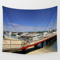 bicycle Wall Tapestries featuring Bicycle  by Chris' Landscape Images & Designs