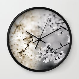Assorted Cherry Blossoms in Muted Tones Wall Clock