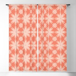 Pretty Pearly Apricot Floral Blackout Curtain