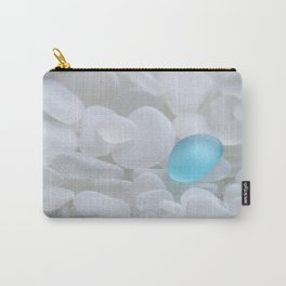 Turquoise Sea Glass Carry-All Pouch