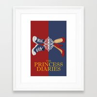 the vampire diaries Framed Art Prints featuring Princess Diaries by Jambanana